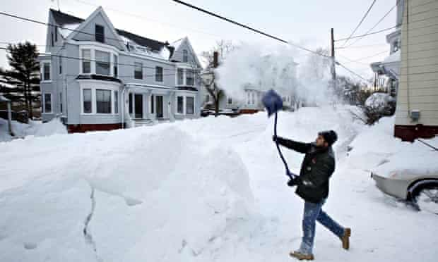 Snow in Portland, Maine, US