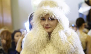 A faux-fur coat designed by Stella McCartney and shown at Paris fashion week