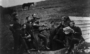 Invading English and French soldiers in Crimean war