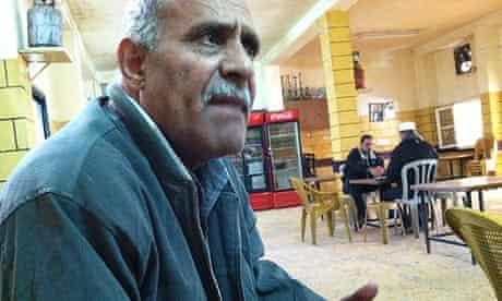 Ibrahim Khamis in the Al-Amari cafe in a Ramallah refugee camp