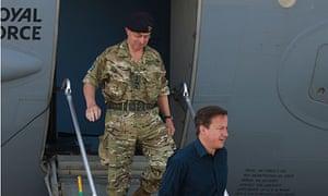 General Sir David Richards, left, with David Cameron.