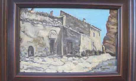 Ecce Homo 'restorer' Cecilia Gímenez's own painting: a landscape of Borja, for sale on eBay
