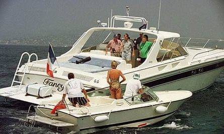 Princess Diana talking to James Whitaker off St Tropez in 1997.