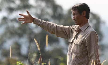 Chut Wutty at a Cambodian national park where he exposed illegal logging