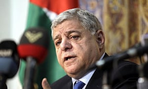 Jordan's former prime minister Awn Khasawneh, who stepped down today without warning.