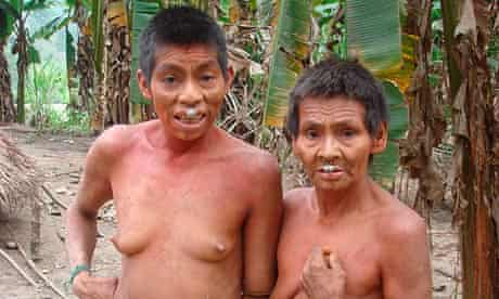 Indigenous people of the Kugapakori-Nahua-Nanti reserve in Peru, threatened by the Camisea project