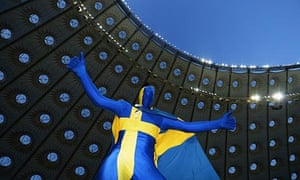 Swedish fan at Euro 2012 match at Kiev's Olympic stadium, one of projects implicated in $4bn fraud