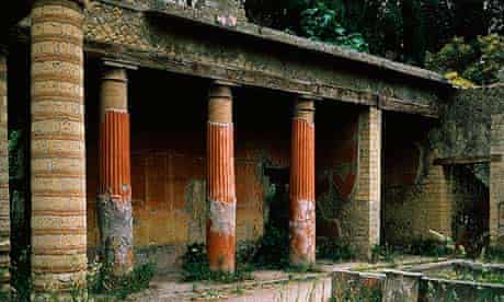 House of Telephus Relief, Cardo (street) V, Roman, Herculaneum, Italy