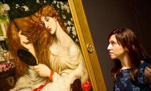 Dante Gabriel Rosetti's Lady Lilith, in Tate Britain's show Pre-Raphaelites: Victorian Avant-Garde