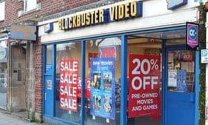 a Blockbuster in Hertfordshire  – the Video store chain has fallen into administration