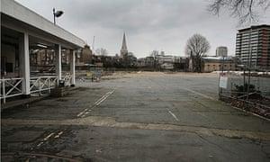 The former Chelsea Barracks site. Richard Rogers' original design led Prince Charles to intervene