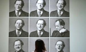 Photographs of Kurt Schwitters performing his poem 'Ursonate', at Tate Britain in London