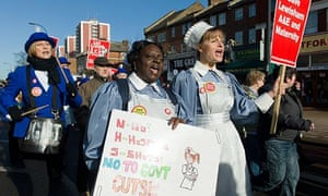 Nurses join a protest to save Lewisham hospital