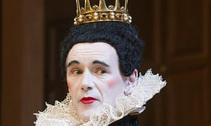 Mark Rylance as Olivia in Shakespeare's Twelfth Night.
