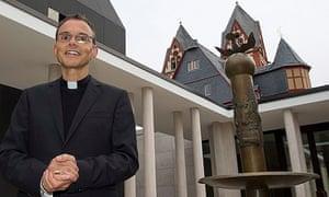 Franz-Peter Tebartz-van Elst, bishop of Limburg, in the inner courtyard of the palace,