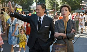 Tom Hanks and Emma Thompson as Walt Disney and Mary Poppins author PL Travers in Saving Mr Banks