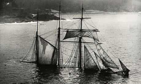 The Mildred, which ran aground in 1912. The collection records more than 200 shipwrecks
