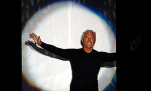 Giorgio Armani after a Milan fashion show. He had refused to join the body