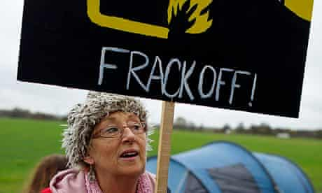 Frack Free Manchester Protesters blocking Barton Moss Road to stop a drilling equipment delivery