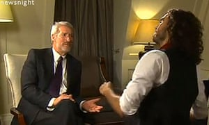 Jeremy Paxman and comedian Russell Brand on Newsnight - 10 million people have watched the interview