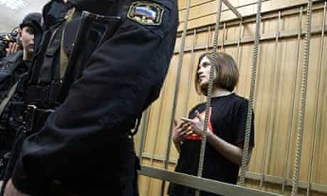Nadezhda Tolokonnikova, of the punk group Pussy Riot, in a Moscow court last year.