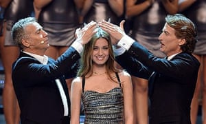 Giulia Arena is crowned Miss Italia 2013 in a Beauty Pageant that launched Sophia Loren in 1950