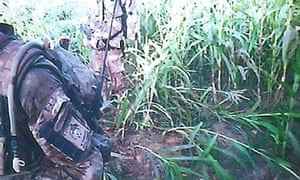 Footage from a helmet camera, seen during the court martial, of the Marine patrol in Afghanistan