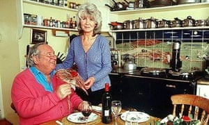 The late publisher Leo Cooper and his wife, the writer Jilly Cooper, in 2001