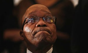 south african president Jacob Zuma at a church service for Nelson Mandela