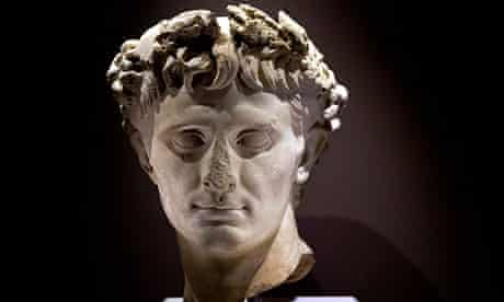 Roman emperor Augustus, who ruled at the time of Herod the Great in the Israel Museum exhibition