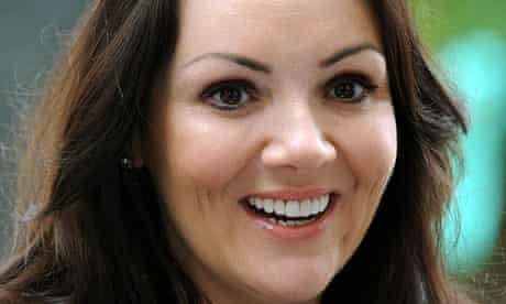 Actor and singer Martine McCutcheon, who filed for bankruptcy