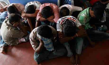 Sri Lankans held in Colombo after being arrested trying to sail to Australia to seek asylum