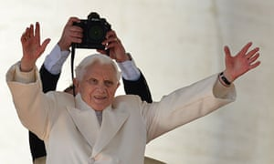 Pope Benedict XVI at his last weekly audience in St Peter's square