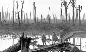 Australian troops after Passchendaele, also known as the third battle of Ypres in 1917