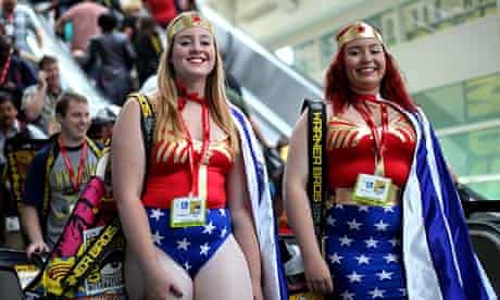 Fans dress as Wonder Woman at Comic-Con in San Diego, The world's largest comic festival.
