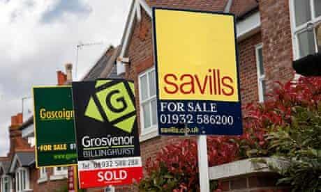 Estate Agent Signs in Cobham - Surrey - UK