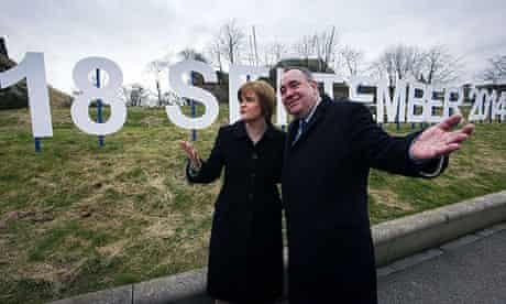 Scottish first minister Alex Salmond and deputy Nicola Sturgeon announce date of referendum