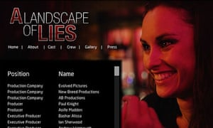 Landscape of Lies poster. NB the producers Andrew Watmough and Paul Knight had no part in the fraud