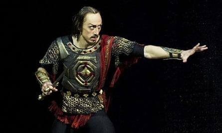 Pavel Dmitrichenko as Ivan the Terrible in the Bolshoi production of Prokofiev's Ivan Grozny