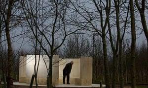 The new Quaker memorial at the National Memorial Arboretum in Staffordshire.
