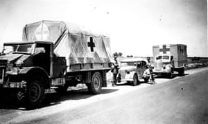 A convoy of the Friends' Ambulance Unit in north Africa in 1942.