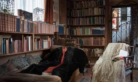 Vita Sackville-West's wedding skirt and her Fortuny gown at her home, Sissinghurst Castle