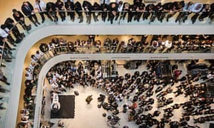 John Lewis staff hear the group's financial results – staff 'partners' get a 17% bonus.
