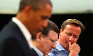 David Cameron, Barack Obama, José Manuel Barroso at launch of EU-US free trade talks