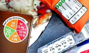 food labels with more than one system, such as traffic lights and guideline daily amounts