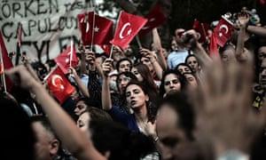 Turkish Demonstrators during the Gezi Park occupation,