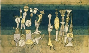 Paul Klee's 1921 painting Comedy, when he was a teacher at the Bauhaus.