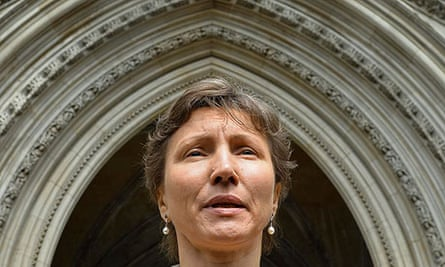 Marina Litvinenko, widow of the former Russian spy, outside the high court in London.