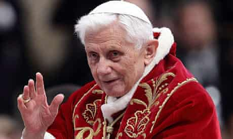 Pope Benedict XVI, known for his ermine stoles and handmade red shoes.