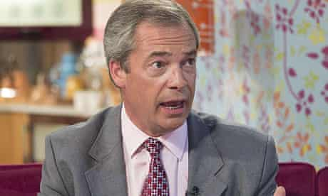 Nigel Farage appearing on This Morning. T